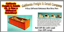 Roll-Off Bin w/Trash Load (20')  N/Nn3/1:160-Scale CAL Freight & Details *NEW*