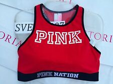 Victoria's Secret Sport Bra Bralette PINK High Neck Racerback Cotton Polyester