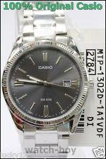 MTP-1302D-1A1 Casio Uhr Herren Datum Schwarz 50m Edelstahl Analog Brand-New