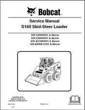 Bobcat S160 Skid Steer Loader Service Manual CD   --- S 160