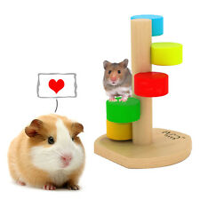 Spiral Stairs Wood Ladder Play Exercise Toys For Pet Hamster Mouse Guinea Pigs