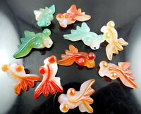 Promotion Hand-carved goldfish agate Gem Pendant beads Jewelry making necklace