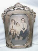 Early Ornate Gesso Wood Dome Bubble Glass Picture Frame Childs Portrait Photo