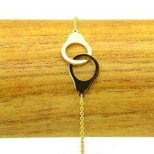 Bracelet Acier inox 316L Menottes chaine fine Charm BRA014-Doré