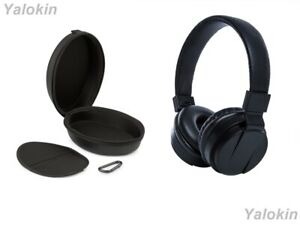 Over Ear Wireless Collapsible Headphones with Mic & Leather Travel Case (CSMS)