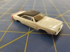 White Dodge Charger American Line T-Jet Repop Body HO Mid America AML B407-W