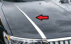 FITS LINCOLN MKZ 2007-2009 POLISHED STAINLESS CHROME HOOD ACCENT TRIM 2PCS