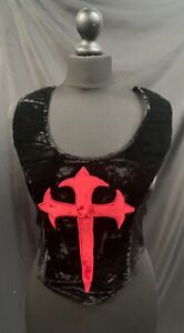Rare Vintage Raven Gothic  Red Cross Corset  top Size Xs Uk Deadstock
