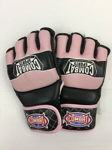 Combat Sports Traditional MMA Fight Gloves (Pink, Jr) FG16