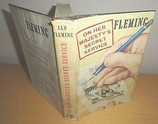 1963 ON HER MAJESTYS SECRET SERVICE IAN FLEMING *1ST/FIRST ED JAMES BOND OHMSS @