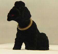 Wackelhund Figur Hund Pudel klein H 13 cm  schwarz Dekofigur Wackelfigur