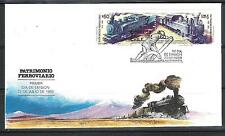 CHILE 1988 FDC Train Railroad Railway Locomotive volcan