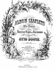 HARMONIUM OR AMERICAN ORGAN MUSIC ALBUM LEAVES 6 PIECES COMPOSED BY OTTO BOOTH