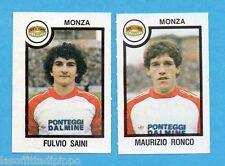 PANINI CALCIATORI 1982/83 -Figurina n.493- SAINI+RONCO - MONZA -Rec