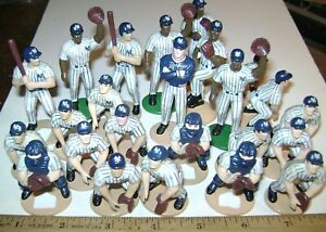 Lot of 24 YANKEES Baseball PVC - Plastic Figures - Ship Included in Price