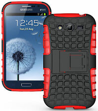 RED GRENADE RUGGED TPU SKIN HARD CASE COVER STAND FOR SAMSUNG GALAXY GRAND DUOS
