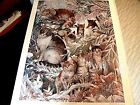 """JUNE PAYNE HART LIMITED EDITION """"WINTER CATS"""" PRINT(239/750)"""