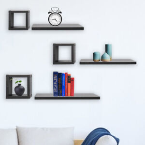 Set Of 6 Floating Shelf/Shelves Cube Wooden Cube Shelves Wall Home Decor Storage
