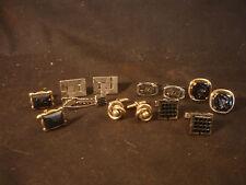 Silver & Gold Tone Cufflinks Tie Bar Jewelry LOT Old Car Centurion Design