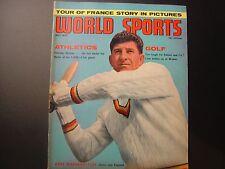 WORLD SPORT MAGAZINE JULY 1963 KEN BARRINGTON, JOE CARR, ARNOLD PALMER