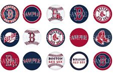15 Pre-Cut Boston Red Sox 1 Inch Bottle Cap Images