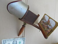 GORGEOUS Antique Victorian 3-D Underwood Photo Viewer Stereoptican, w/Cards