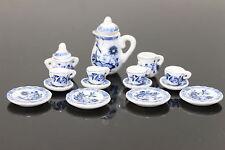 Lot of 15 Flower Porcelain  Puppenhaus Miniature Coffee Tea Cup Set  blue art