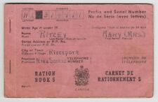 Canada Ww Ii Ration Book 5 Vintage Riverport Nova Scotia Ns Wwii