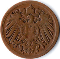 COIN / GERMAN EMPIRE / 1 PFENNIG, 1912    #WT3014