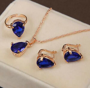 Women Jewelry Sets Necklace Earrings Ring Christmas Crystal Sieraden Xmas Gift