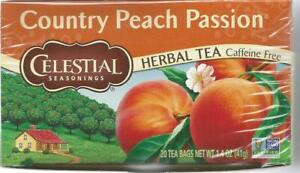 Celestial Seasonings Country Peach Passion Herbal Tea 20 Tea Bags