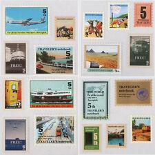 17pcs Stamp Design Sticker Diary Book Planner Scrapbook Photo Paper Ablum Label