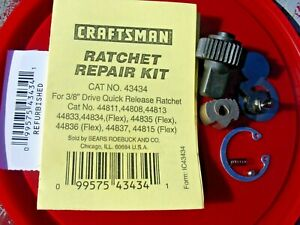 CRAFTSMAN RATCHET REPAIR KIT 43434 3/8 for usa mfr RATCHETS