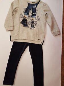 Mayoral Mädchen Set 2 Teiler Legging Hose Sweat Sweatshirt Neu Gr. 92 - 134