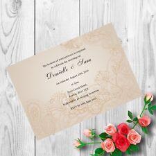 Personalised Handmade Wedding Invitations Invites Day Evening Vintage x 50 AWI28