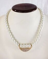 Crystal Circle necklace Inc International Concepts Pearls