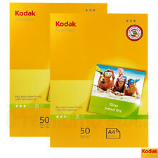 100 sheets x KODAK A4 Photo Paper Glossy 210 x 297mm 180gsm for inkjet printers