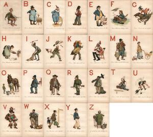 Adam E. Proctor Complete Set of 26: Alphabet Letters Rare! P.P. & P. Co. Vintage