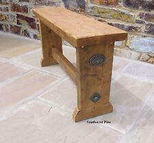 Old Pine Wooden Vintage Industrial Style Bench Seat Kitchen Dining Choose Size