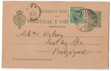 Spain 1902 uprated postal stationery card to belgium