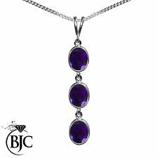 Amethyst Sterling Silver Fine Necklaces & Pendants