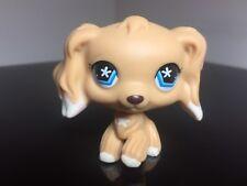 Littlest Pet Shop Cocker Spaniel #748 Cream White Blue Snowflake Eyes Paw Up