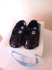 Polo Ralph Lauren Girl's Black Patent Slip On Shoes Size 2.5  U.K BNIB