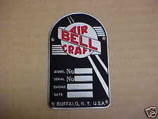 Bell Aircraft Vintage Data Plate Helicopter Acid Etched Stainless Steel 1950s