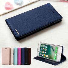 Luxury Wallet Silk Leather Magnetic Flip Case Cover For iPhone X 8 7 6 6s Plus
