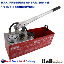 "Pressure Testing Pump Bucket Plumbers Hydraulic Test Pump Max. 60 BAR 1/2"" BSP"