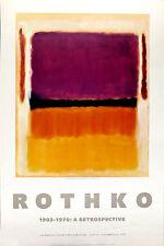 Mark ROTHKO Violet Black Orange Yellow On White and Red LACMA 1979 Poster