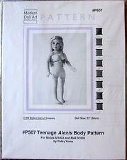 "Vtg '96 Modern Doll Art #P507 Teenage Alexis Body Pattern for 23"" Doll"