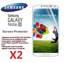 Ultra Clear Screen Protector Film for Samsung Galaxy Note3 III N9000 N9005 X 2