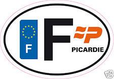 Autocollant sticker département 02 Région Picardie